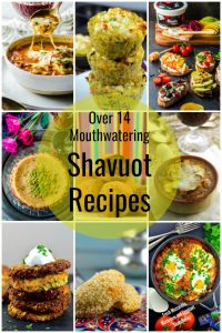 Photo collage or Shavuot Recipes