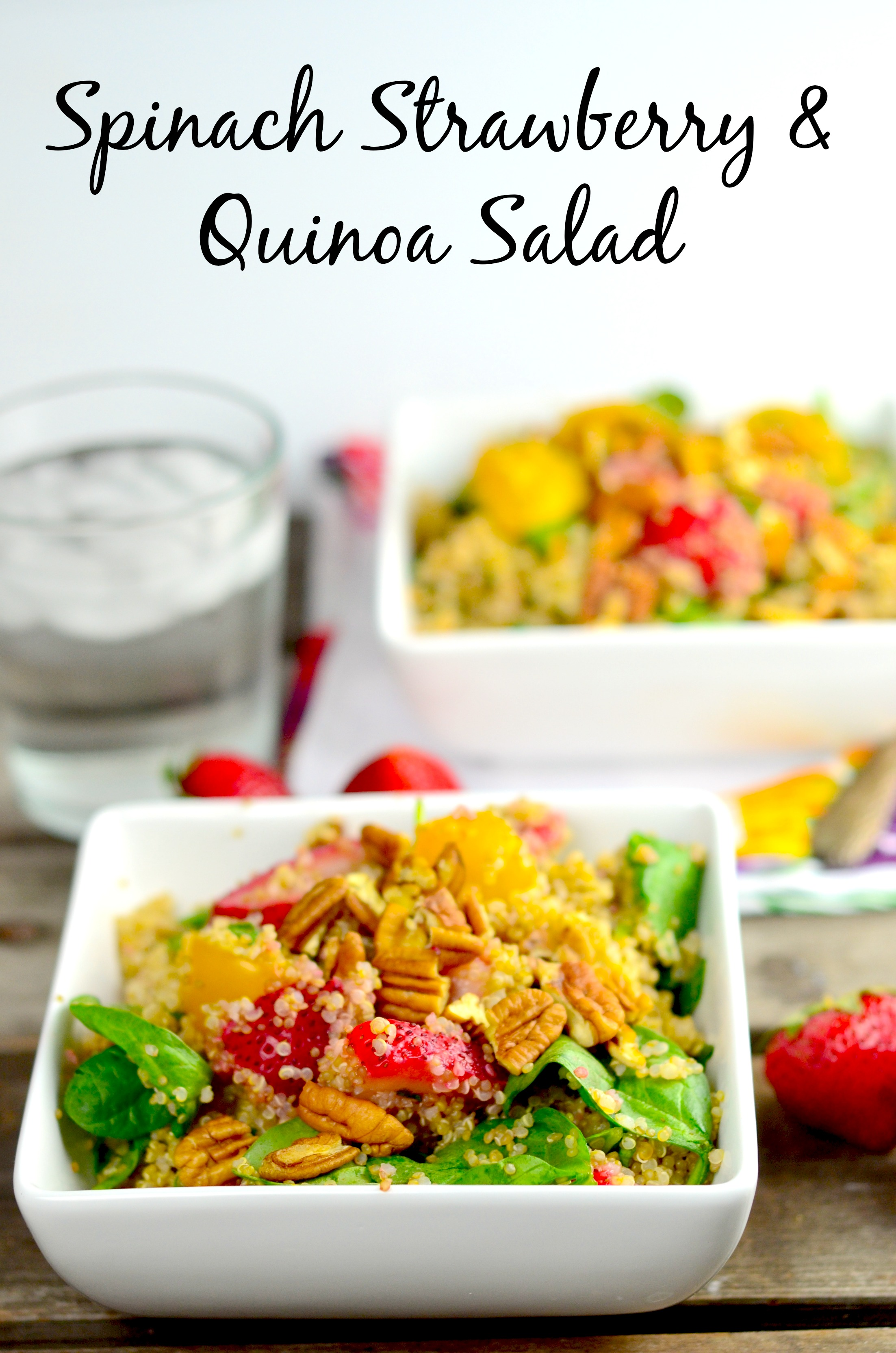Spinach, Strawberry & Quinoa Salad