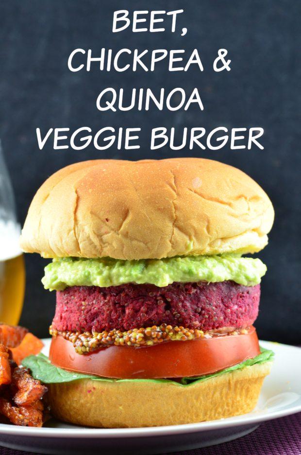 beet chickpea and quinoa veggie burger made with @mailleUS #vegan #veggieBurger #burger #Beet #chickpea #Quinoa #GlutenFree #kosher #mustard #maille #memorialDay #4thofjuly #burger
