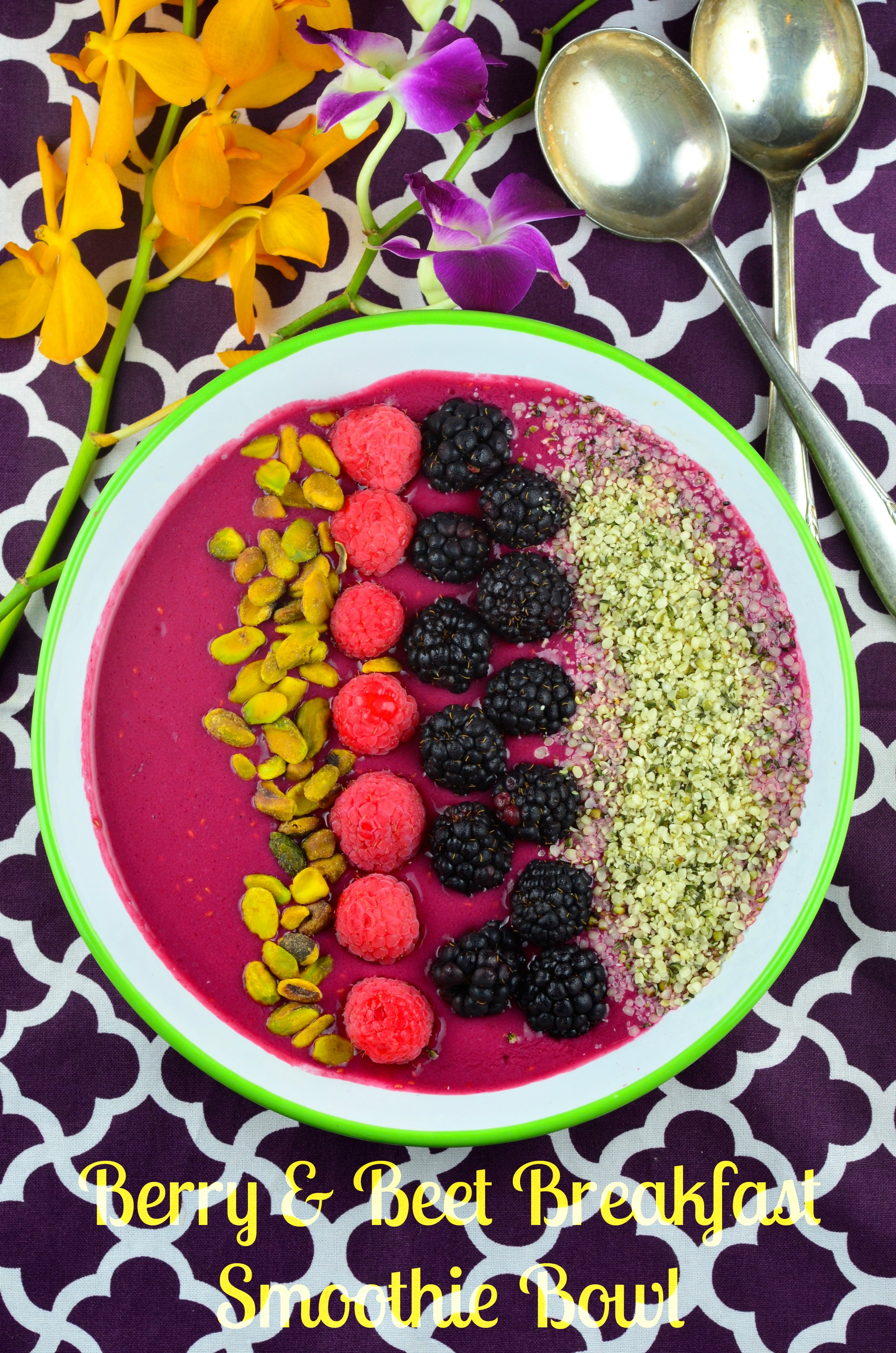 """Beet"" The Heat Breakfast Smoothie Bowl"