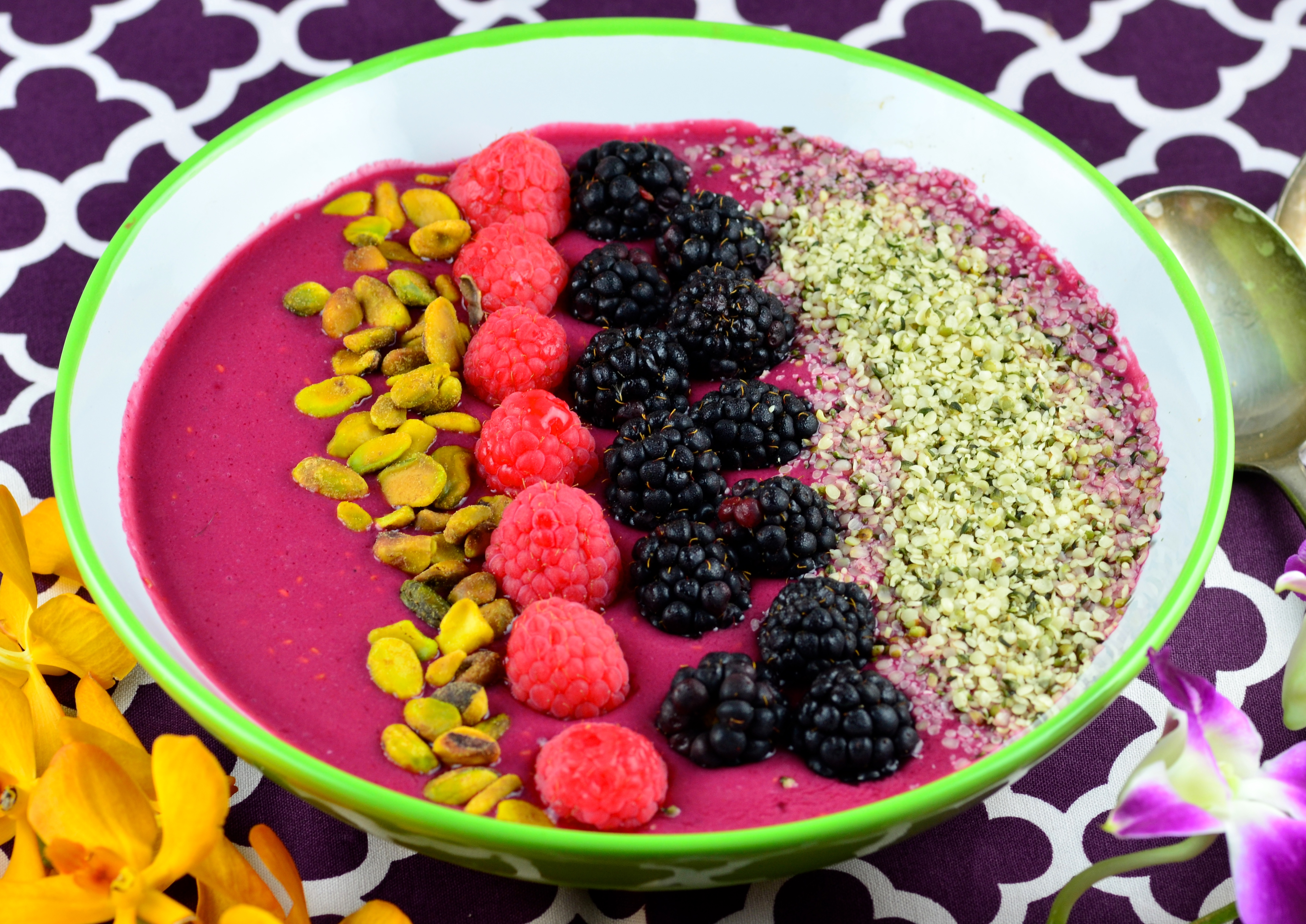 Beet and Berry Smoothie Bowl