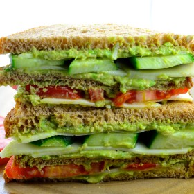 Triple Decker Wasabi Cheese & Avocado Sandwich - A bold flavor combination perfect for summer picnics and back to school lunches