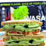 Tripple Decker Wasabi Cheese & Avocado Sandwich - a Bold sandwich combination this summer on your picnic or BBQ