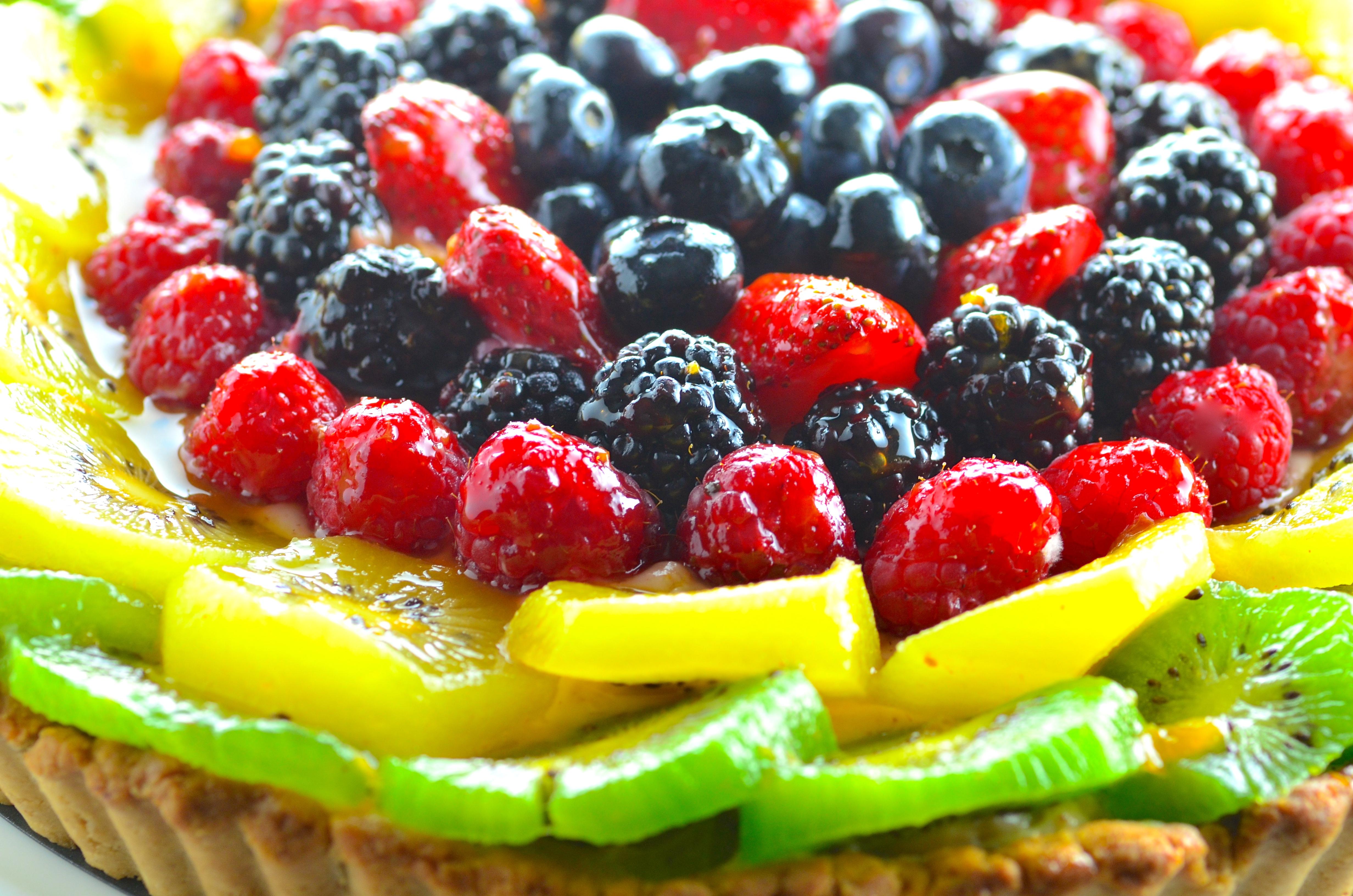 Gluten Free Fruit & Cashew Cream Tart