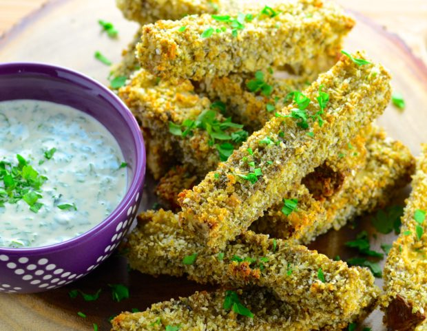 Crispy Baked Eggplant Fries With Marinara Dipping Sauce Recipes ...
