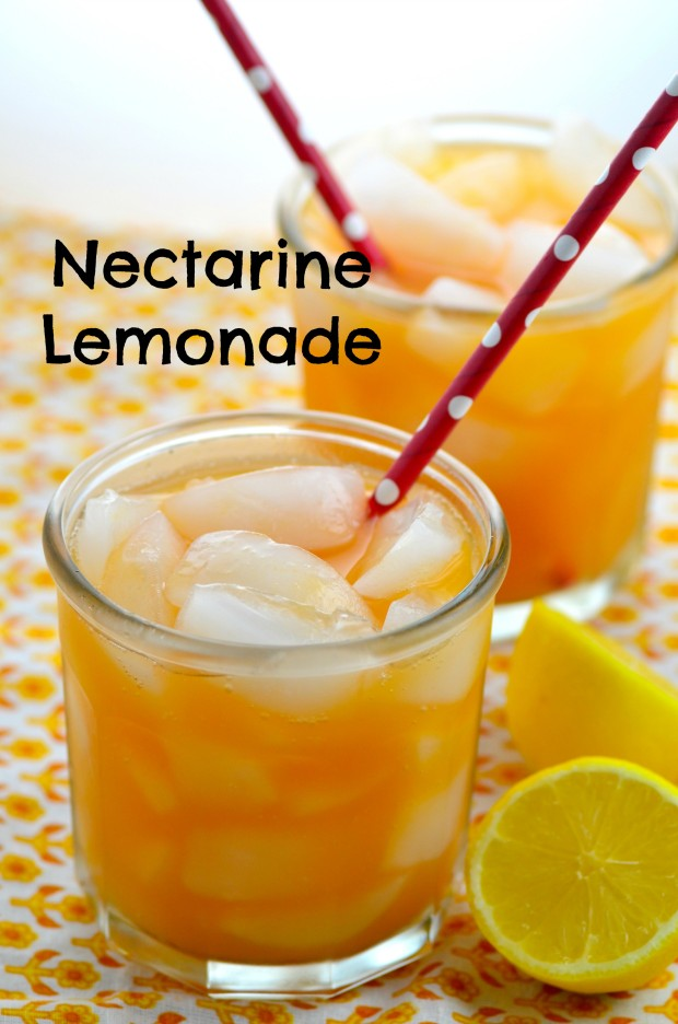 Refreshing Nectarine Lemonade Perfect for summer picnics and BBQ