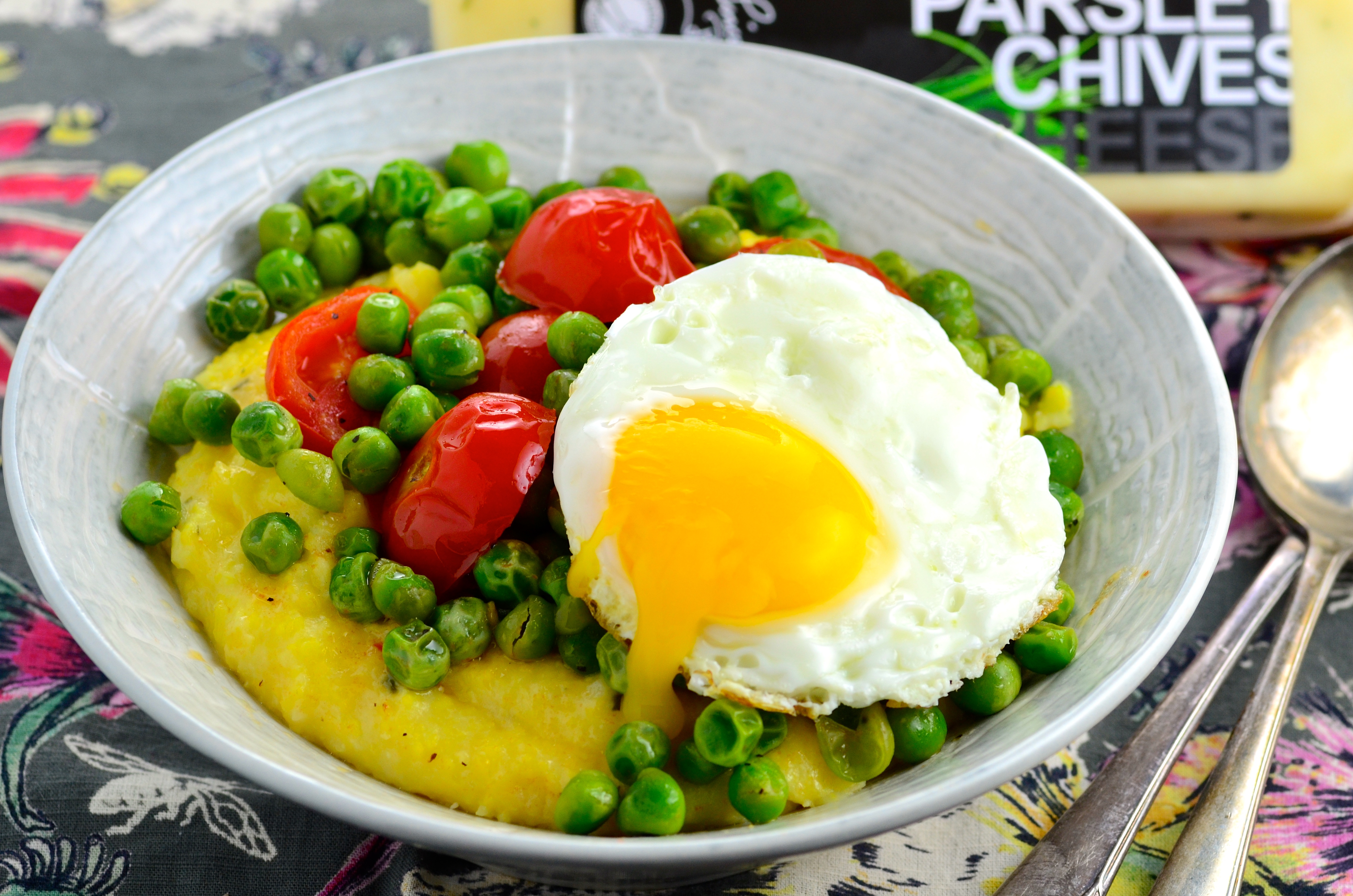 Peas, Cheese & Grits