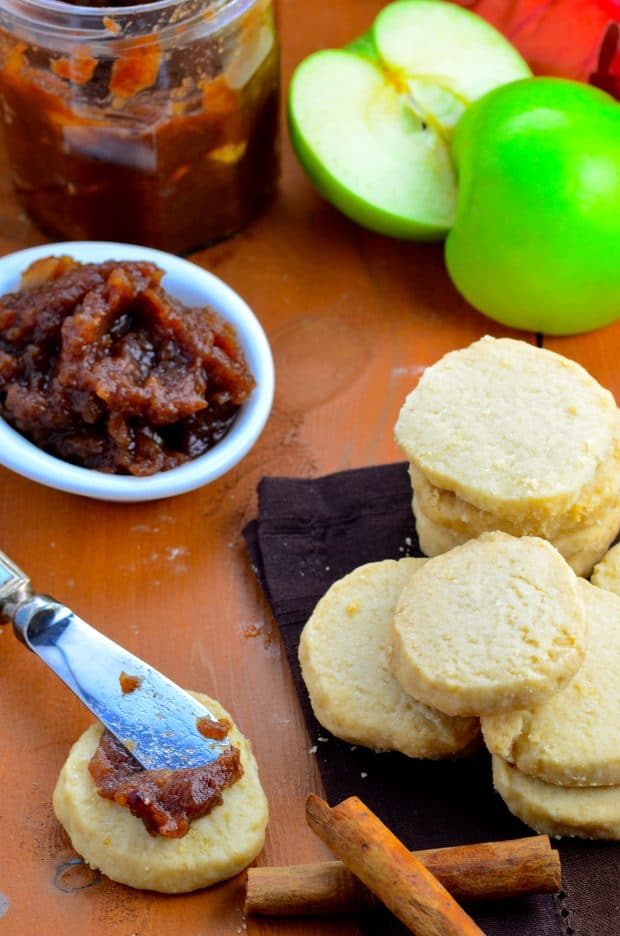 Vegan Shortbread & Spiced Apple Butter