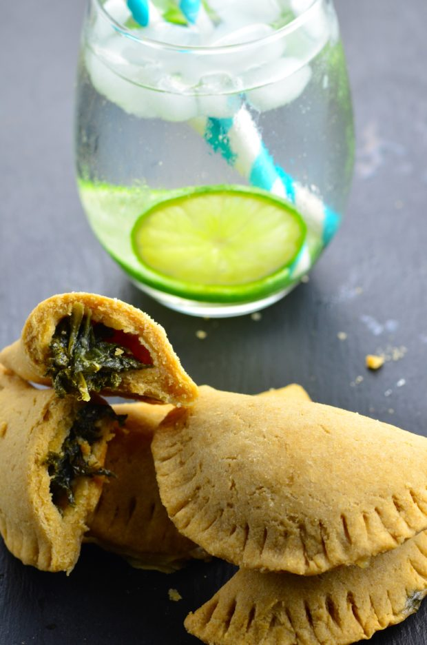 Vegan Garlicky Kale Pizza Hand Pies