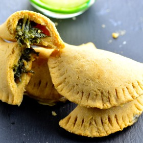"Vegan Garlic kale ""cheese"" hand pies - kosher , dairy free, delicious"