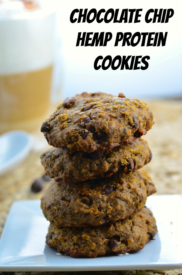 Chocolate Chip Hemp Protein Cookies - Healthy enough to eat for breakfast