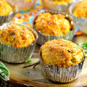 Vegan cheese corn muffins