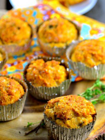 Vegan cheese corn muffins