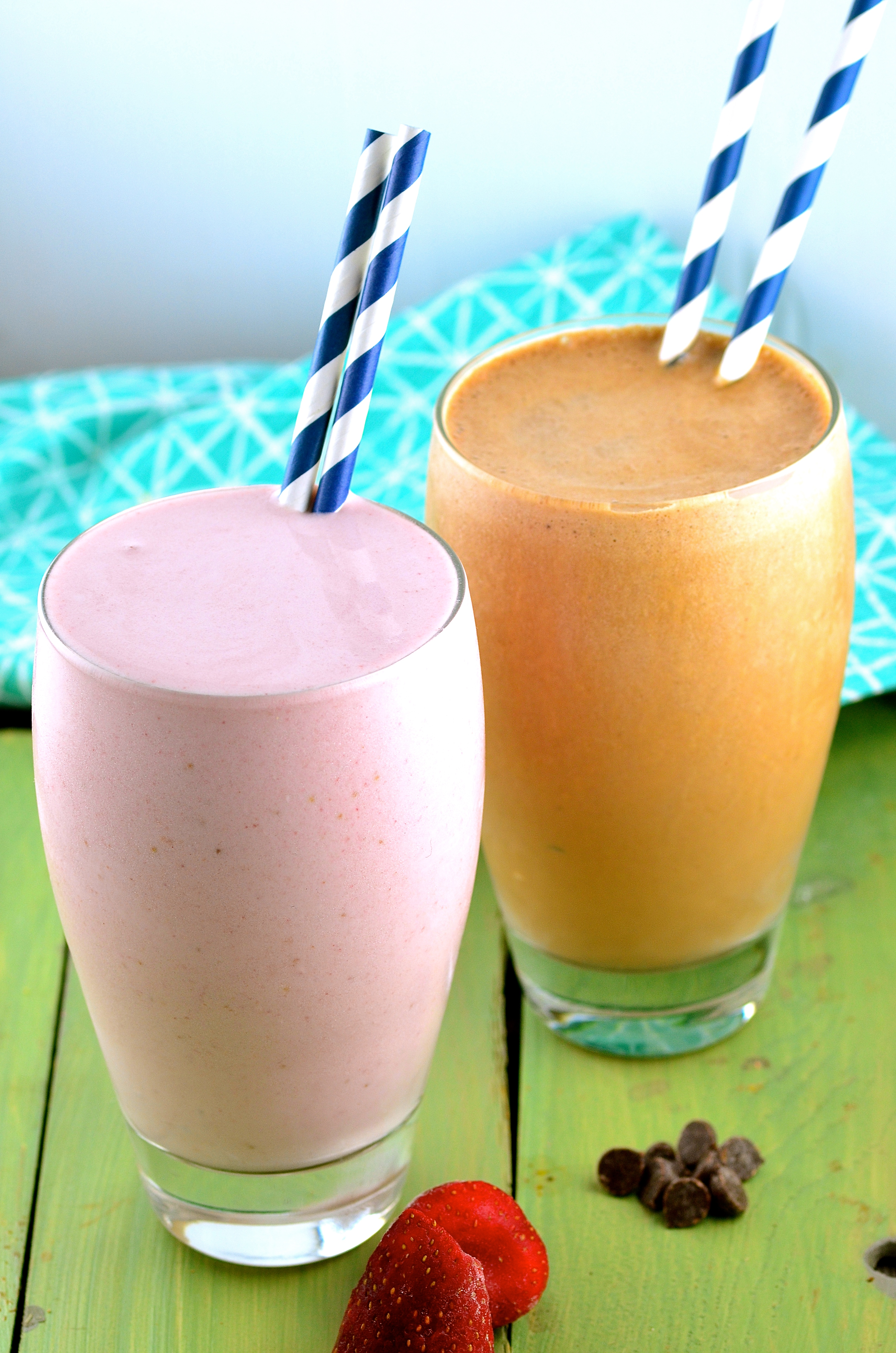 Chocolate and Strawberry Protein Shakes - May I Have That Recipe