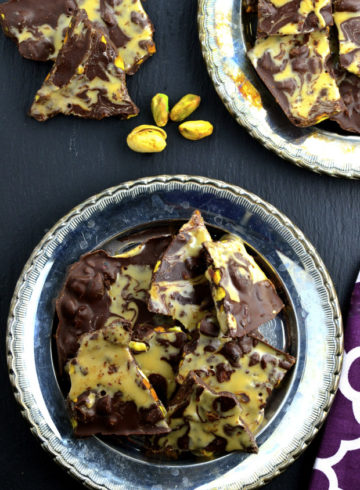 Dark Chocolate & Pistachio Bark & a Secret Ingredient