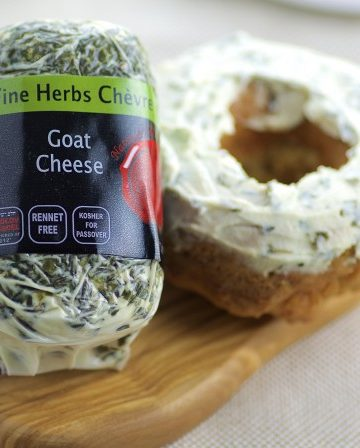 """Savory Cheese Donuts with Goat Cheese """"Frosting"""""""