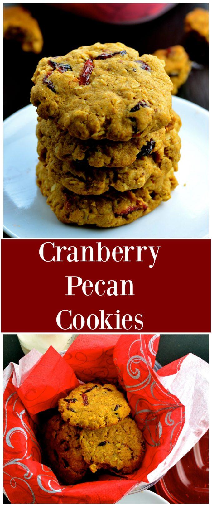 vegan cranberry pecan cookies