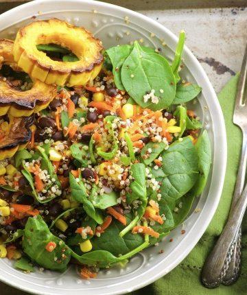 Black Bean, Quinoa & Delicata Squash Salad