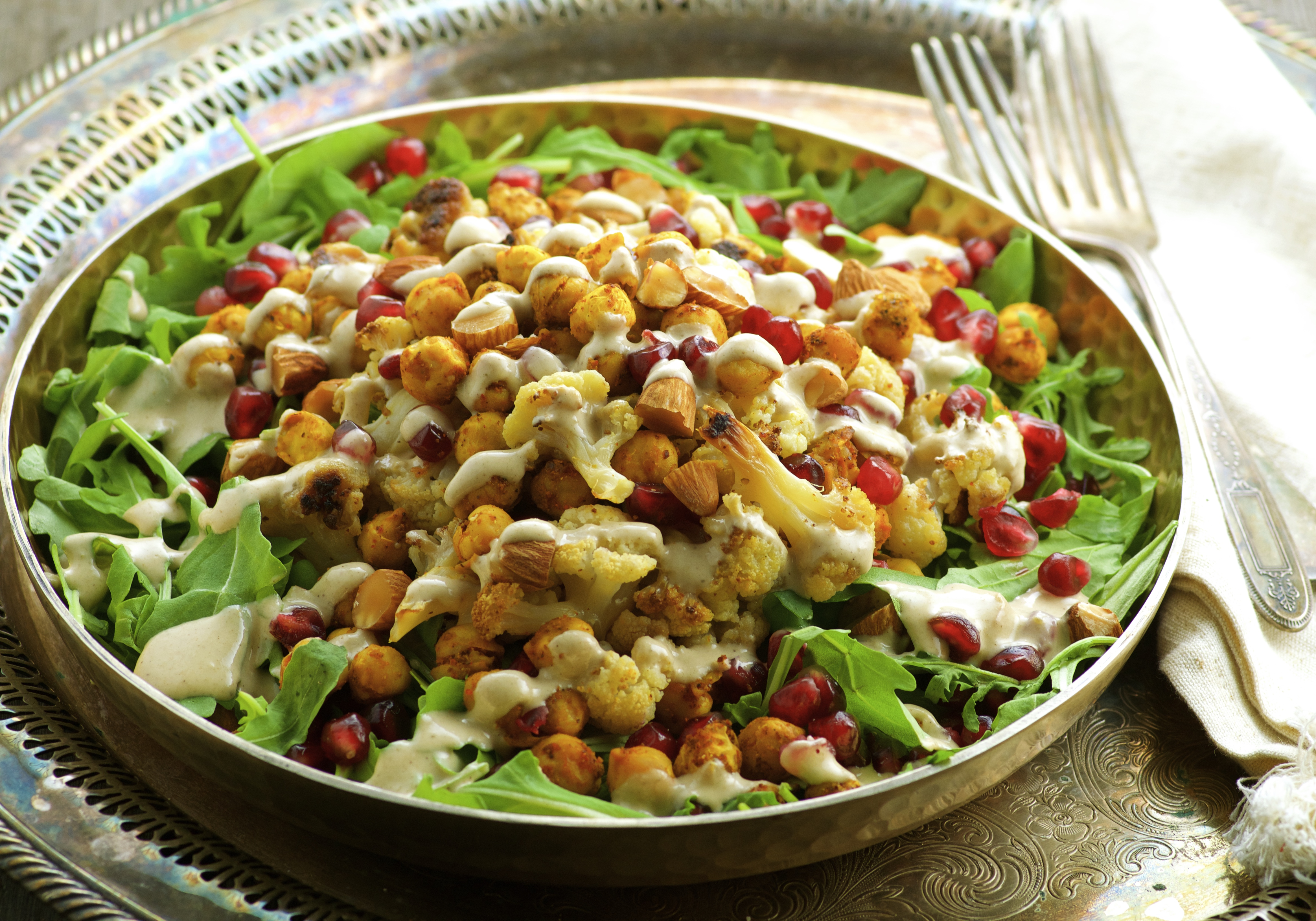 Roasted Cauliflower & Chickpea Salad - May I Have That Recipe