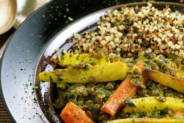 Turmeric Coconut Lentil Quinoa Bowl - Great healthy Meatless Monday Dish, bursting with falvor.