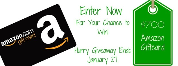 $700 Amazon Giftcard Giveaway Enter Now!! Ends January 27, 2015