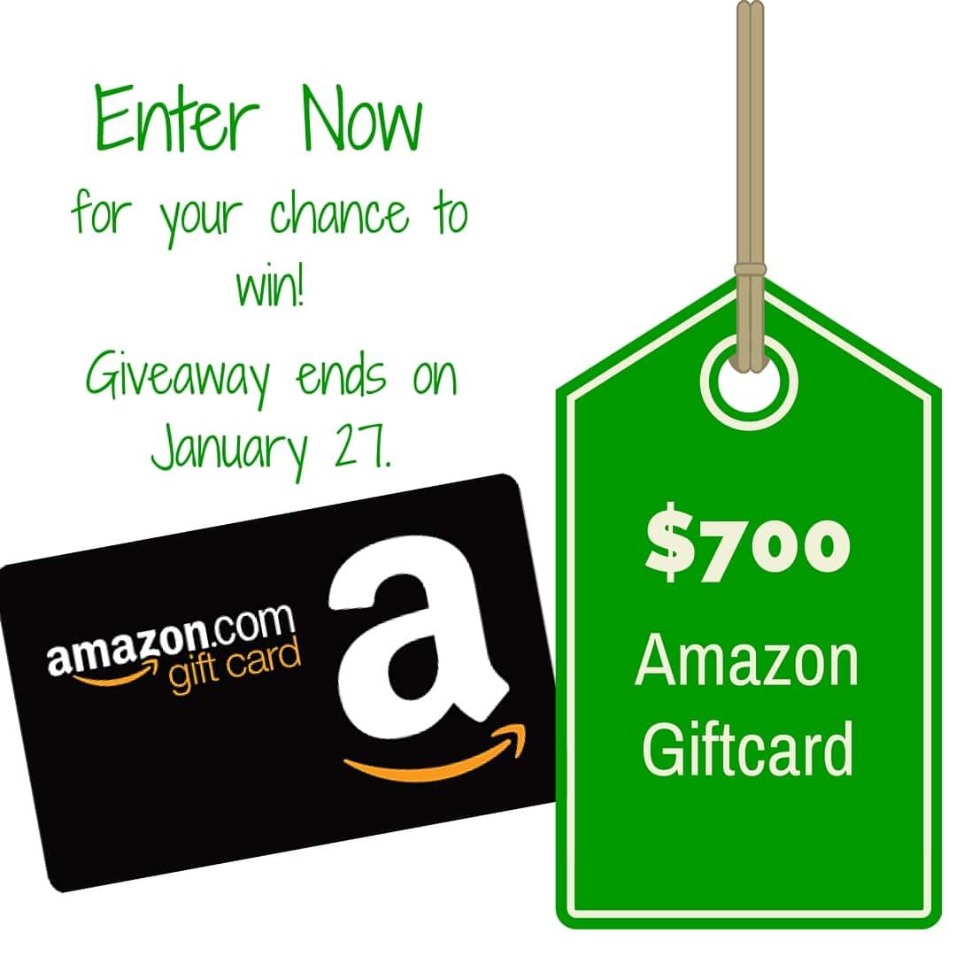 $700 Amazon Gift Card Giveaway