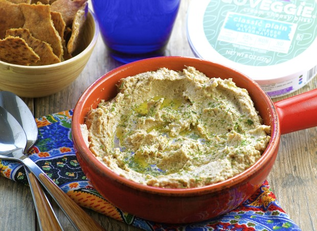 Vegan caramelized onion dip - All the flavor and creaminess of traditional onion dip, with less calories and fat.