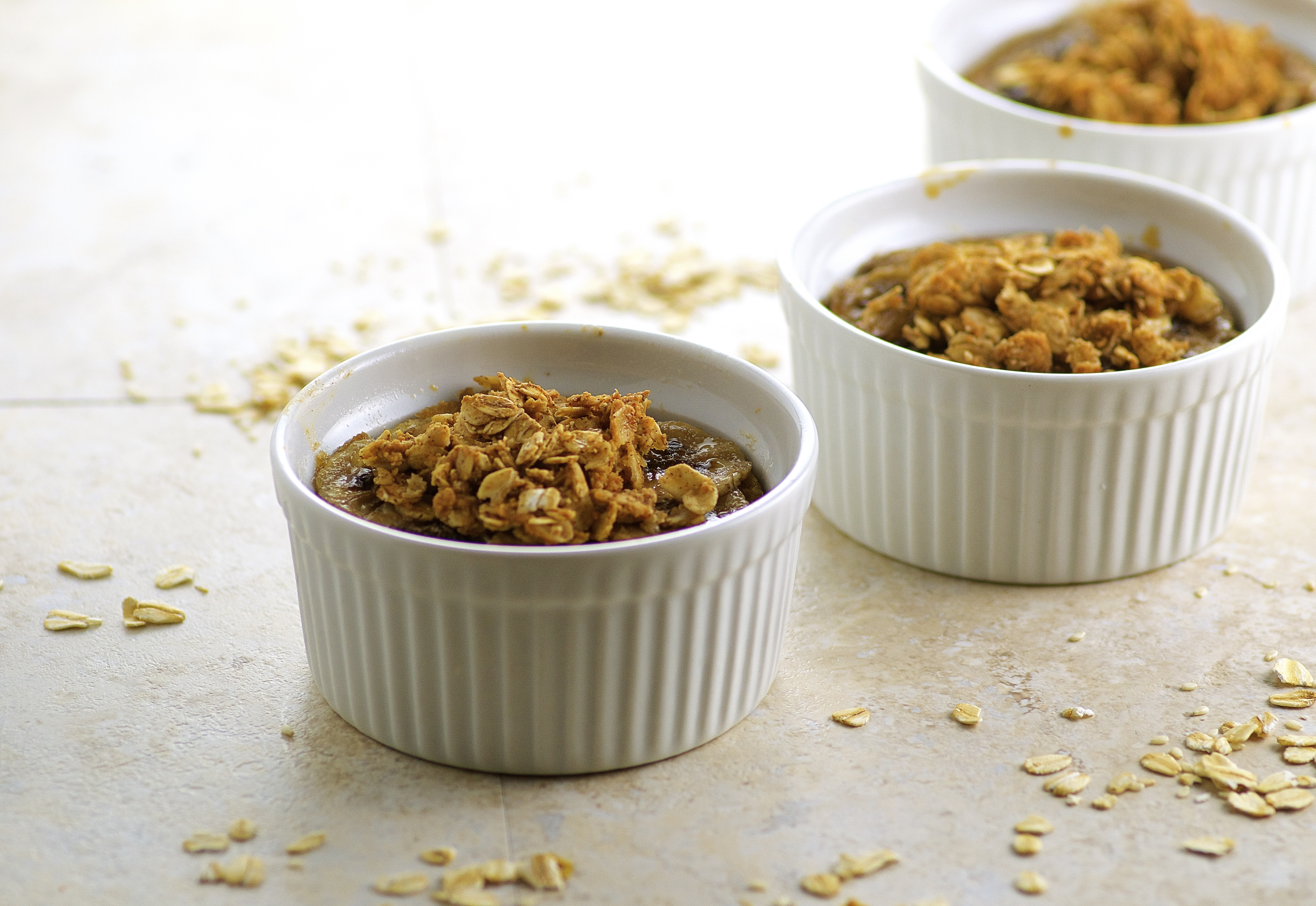 Peanut Butter and Banana Baked Oatmeal, make ahead and quickly warm up ...