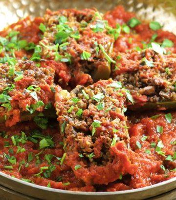 Vegan Quinoa Stuffed Zucchini