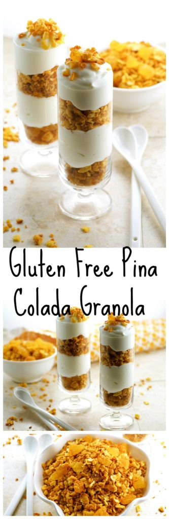 Passover Pina colada gluten free granola - A satisfying gluten free breakfast that will keep you full until lunch time
