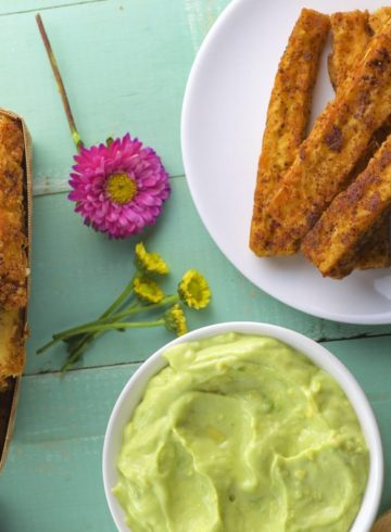 Tofu Fries With Avocado Crema
