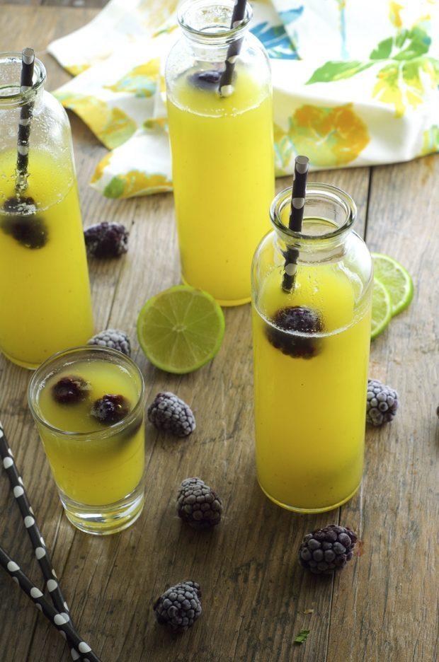 Piña Colada Agua Fresca, a light and refreshing summer drink.