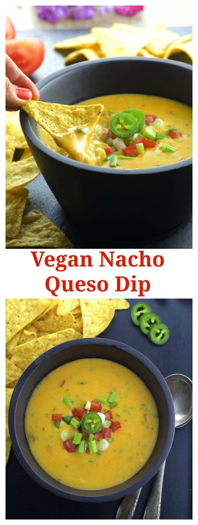 This Vegan Nacho Queso Dip will be a hit on your next party!