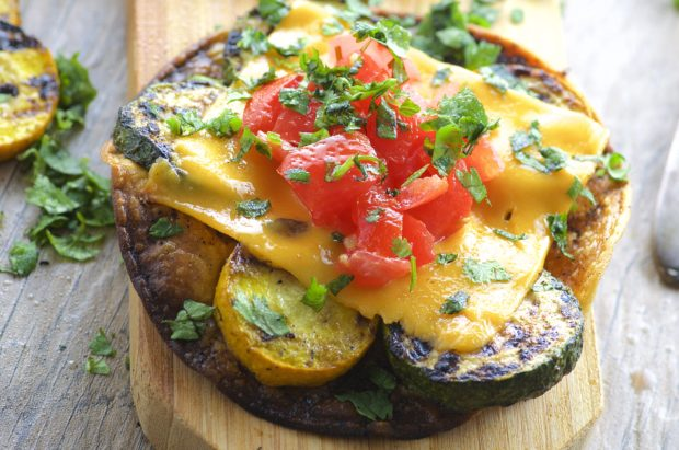 Grilled Vegetable Tostadas - May I Have That Recipe