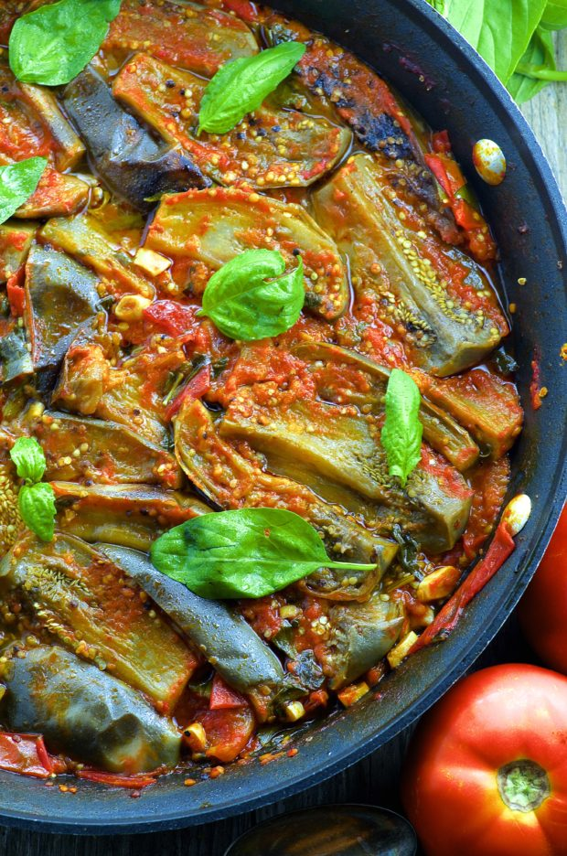 Braised Eggplant In Fresh Tomato Sauce May I Have That Recipe