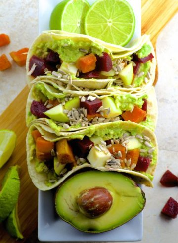Beet And Sweet Potato Tacos