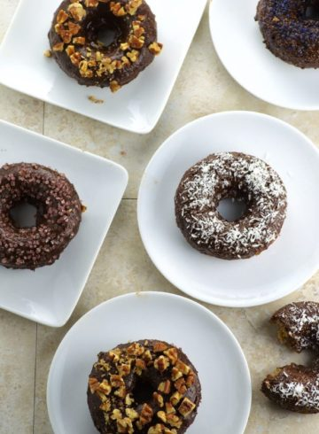 Chocolate Glazed Banana Bread Donuts
