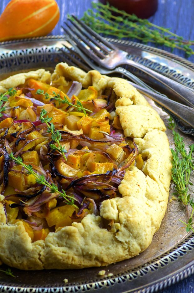 combination of sweet and savory, this Roasted Butternut Squash Galette ...