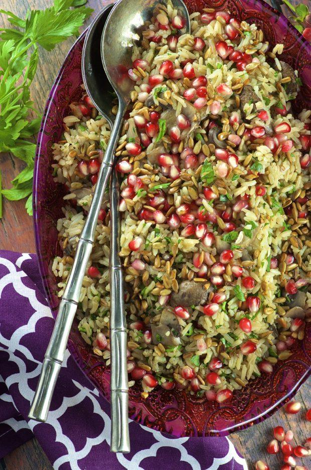 Mushroom And Onion Rice Pilaf