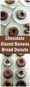 The moistest Chocolate glazed banana bread donuts you will ever taste