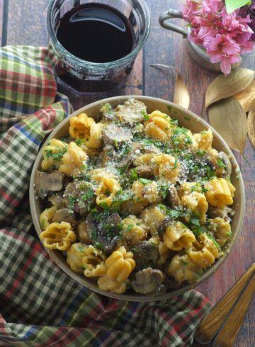 Mushroom And Veggie Sausage Pasta