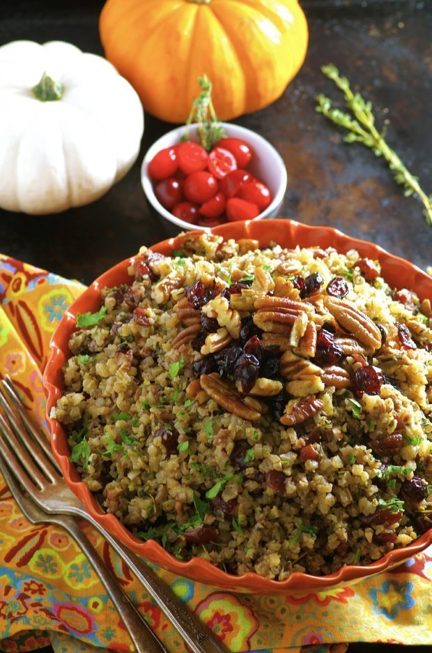 This stress free, grain free, gluten free, meat free Thanksgiving Cauliflower Stuffing recipe might be just what you need to start the weekend...