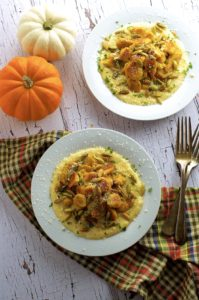 Melt in your mouth pumpkin gnocchi with a creamy chipotle béchamel sauce. Vegetarian Thanksgiving and fall dinner idea.