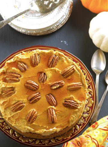Pumpkin Mousse Cashew Cheesecake