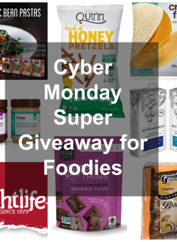 Cyber Monday Giveaway for Foodies - enter until December 8, 2016