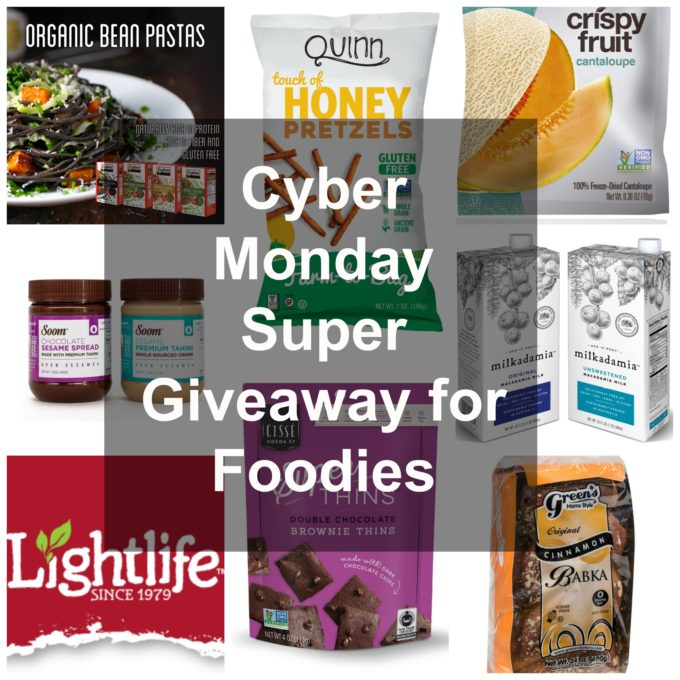 Cyber Monday Giveaway for Foodies - enter until December 6, 2016