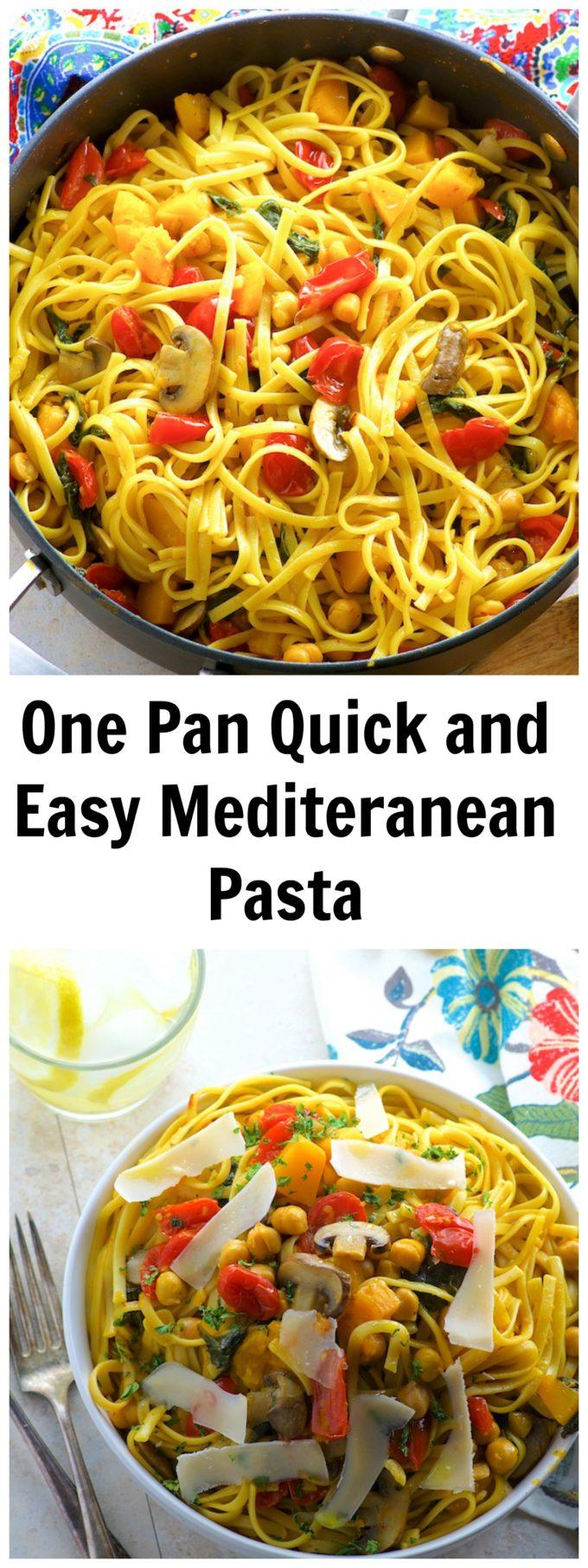 One Pot Chickpea And Butternut Squash Pasta.  #FamilyPastaTime @BarillaUS