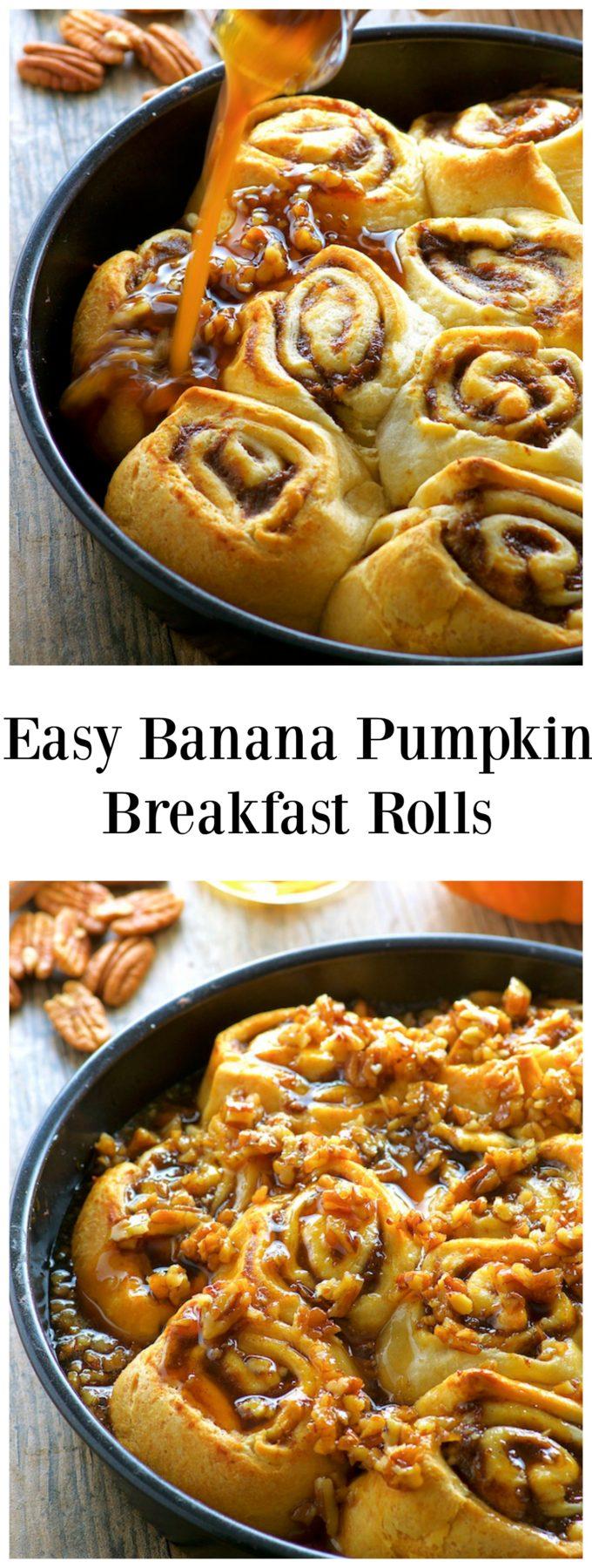 Easy Maple Banana Pumpkin Cinnamon Rolls - May I Have That ...