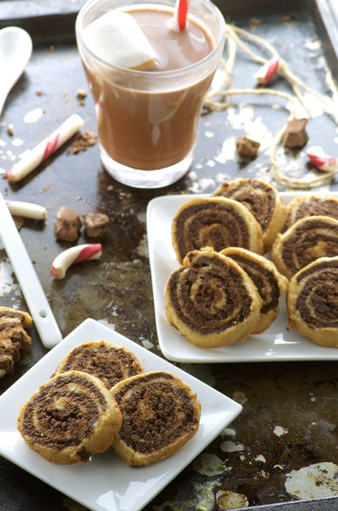 Peppermint Chocolate Pinwheel Cookies