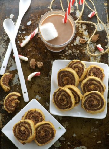 Peppermint Chocolate Pinwheel Cookies. Peppermint and chocolate play in complete harmony in this soft dessert cookie